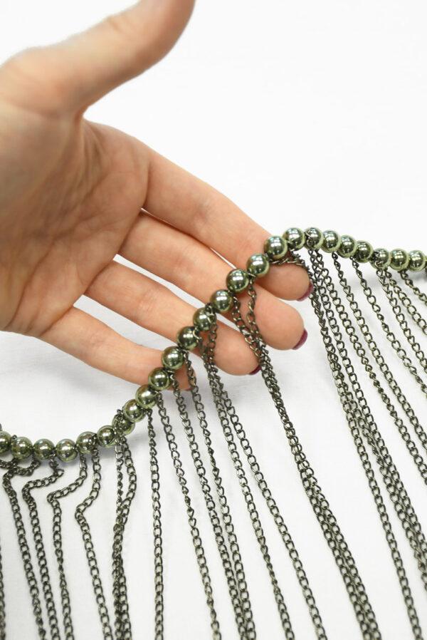 Декор металл никель с цепями 1