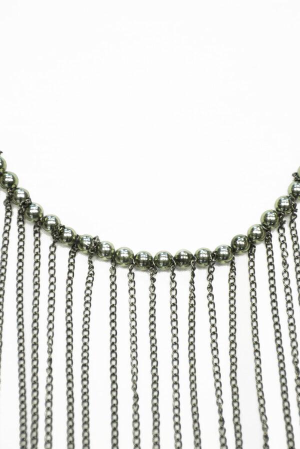 Декор металл никель с цепями 2