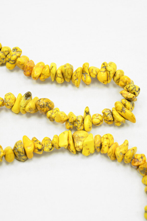 Бусы с желтыми камнями на леске 1