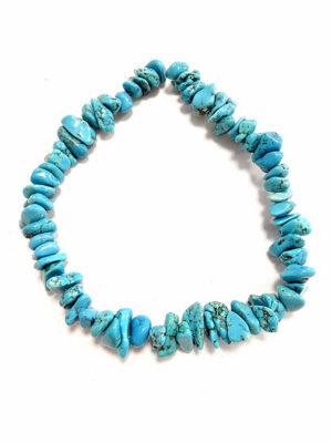 Бусы с голубыми камнями