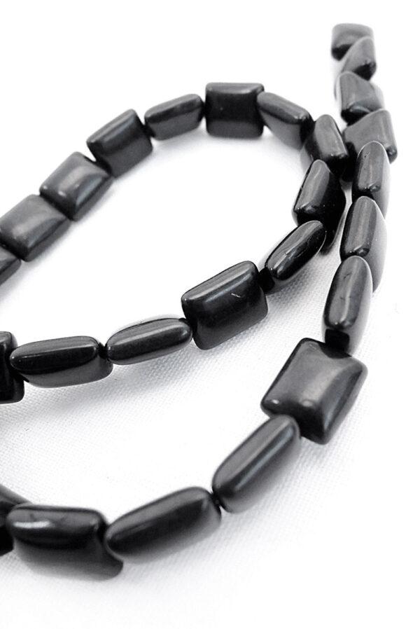 Бусы керамические черные 1
