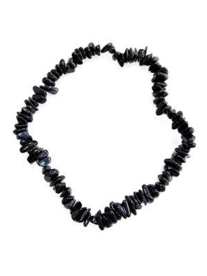 Бусы черные из камня