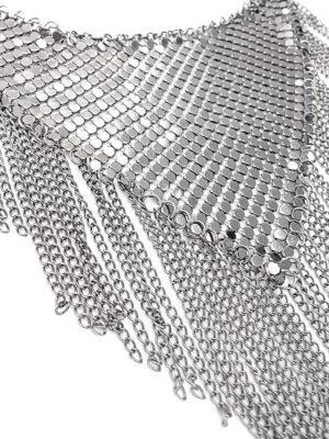 Колье металл блэк никель с цепями 1
