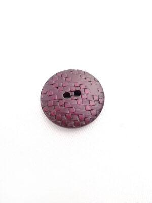 Пуговица пластик на два прокола цвет темно-фиолетовый (p0444) - Фото 17