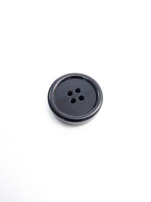 Пуговица пластик на четыре прокола черная (p0598) - Фото 22