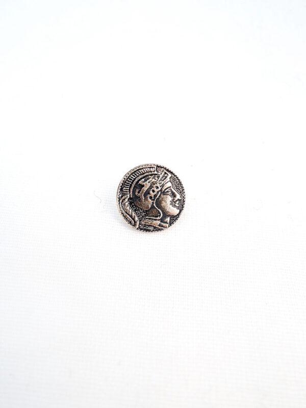 Пуговица металл маленькая в римском стиле (p0794) - Фото 6