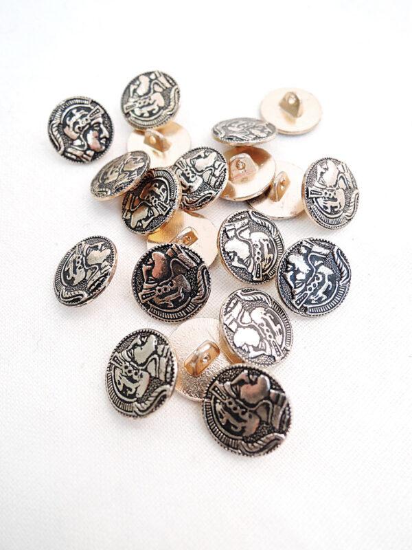 Пуговица металл маленькая в римском стиле (p0794) - Фото 8