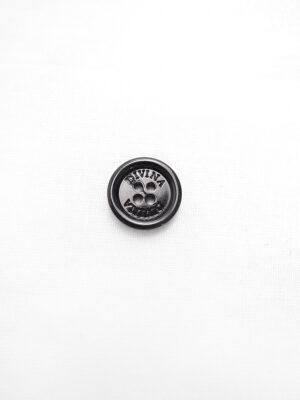 Пуговица черная глянцевая лакированная Divina (p0798) - Фото 12