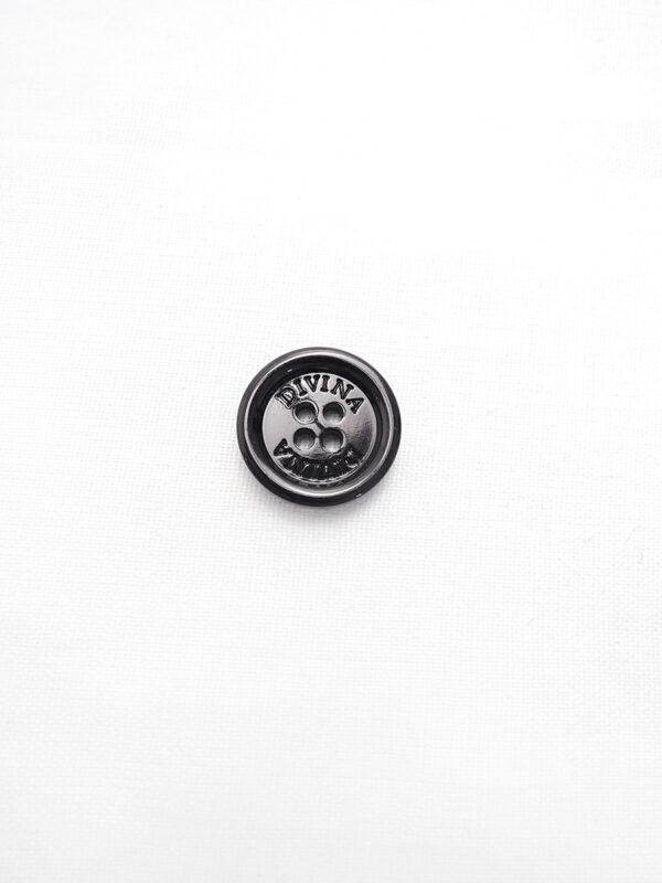 Пуговица черная глянцевая лакированная Divina (p0798) - Фото 6