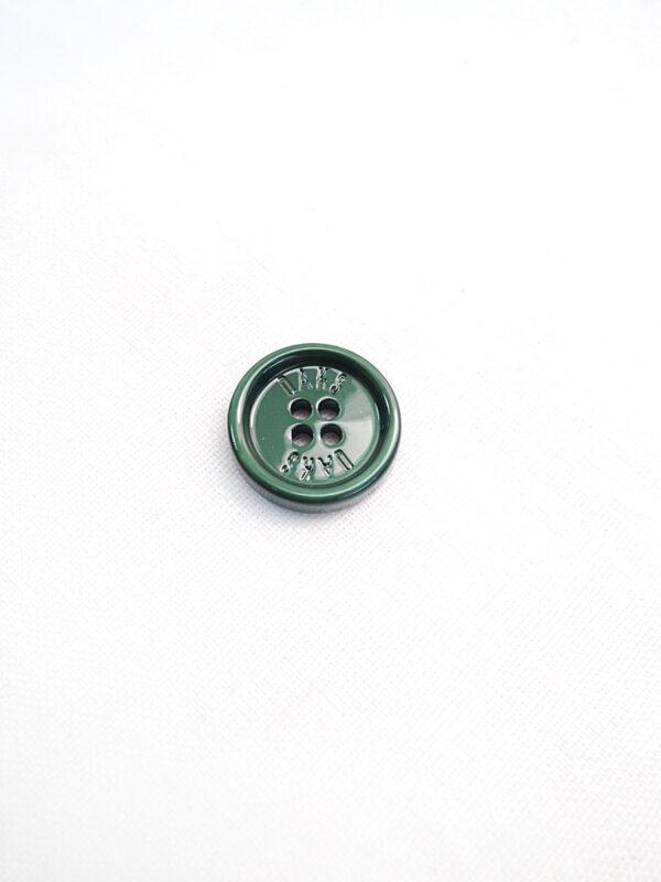Пуговица пластик насыщенный зеленый перламутр Daks (p0803) к3 - Фото 6