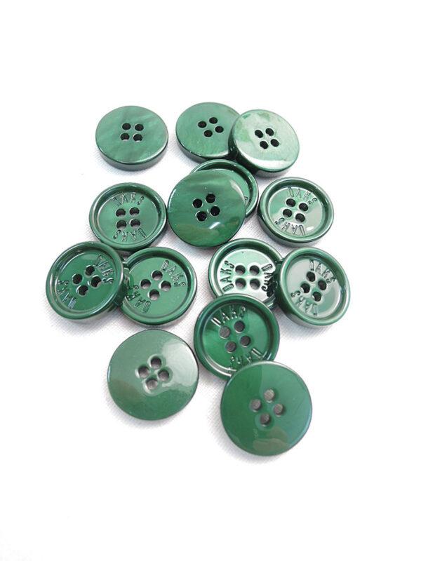 Пуговица пластик насыщенный зеленый перламутр Daks (p0803) к3 - Фото 7