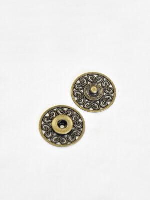 Кнопки пришивные металл ажурные с декоративным узором бронзовый оттенок (p0823) - Фото 16