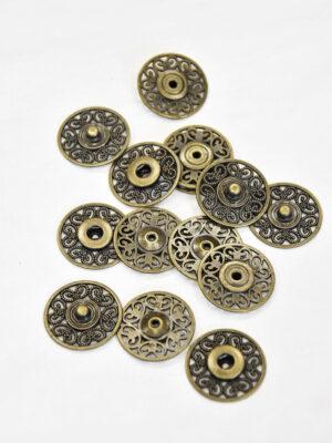 Кнопки пришивные металл ажурные с декоративным узором бронзовый оттенок (p0823) - Фото 17