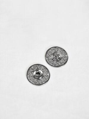 Кнопки пришивные металлические с ажурным узором блэк никель (p0825) - Фото 22