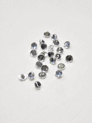 Пуговица серебро кристалл на ножке (p0845) - Фото 10
