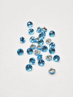 Пуговица металл голубой кристалл (p0847) - Фото 12
