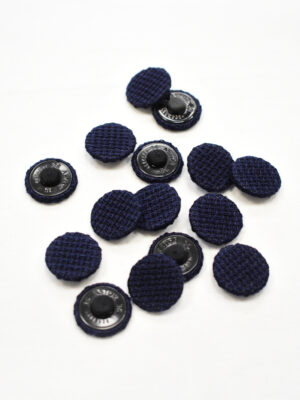Пуговица пластиковая обтянутая синей тканью (р1144) - Фото 15