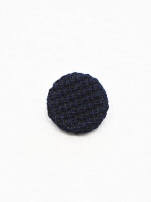 Пуговица пластиковая обтянутая синей тканью (р1144) - Фото 14
