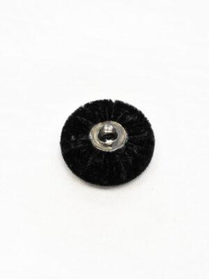 Пуговица бархатная черная на ножке (р1147) - Фото 11