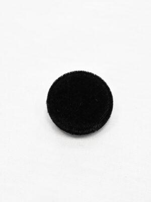 Пуговица бархатная черная на ножке (р1147) - Фото 10