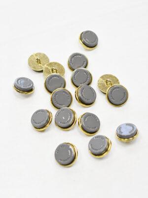 Пуговицы металл серые с золотом (р1155) - Фото 15