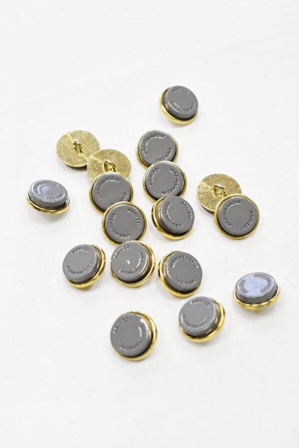 Пуговицы металл серые с золотом (р1155) к23 - Фото 7