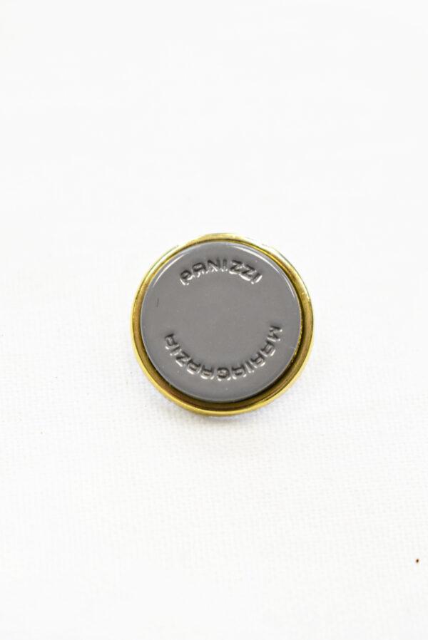 Пуговицы металл серые с золотом (р1155) к23 - Фото 6