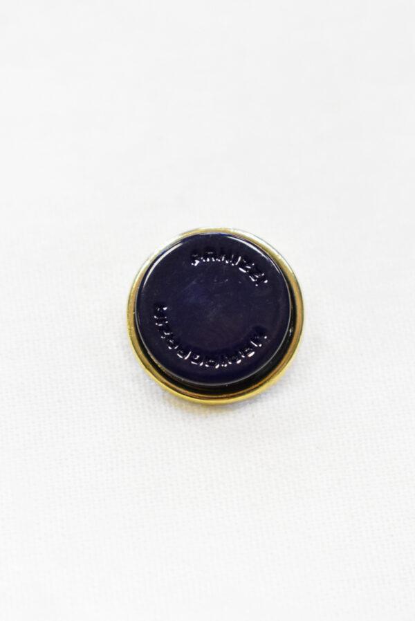 Пуговицы металл чернильно-синие с золотом (р1156) к23 - Фото 6