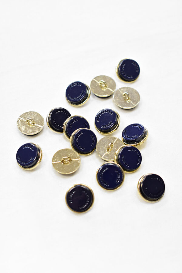 Пуговицы металл чернильно-синие с золотом (р1156) к23 - Фото 7