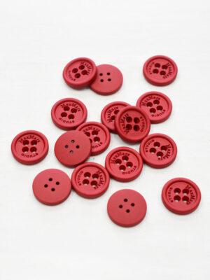 Пуговицы пластиковые красные на четыре прокола (р1158) - Фото 18