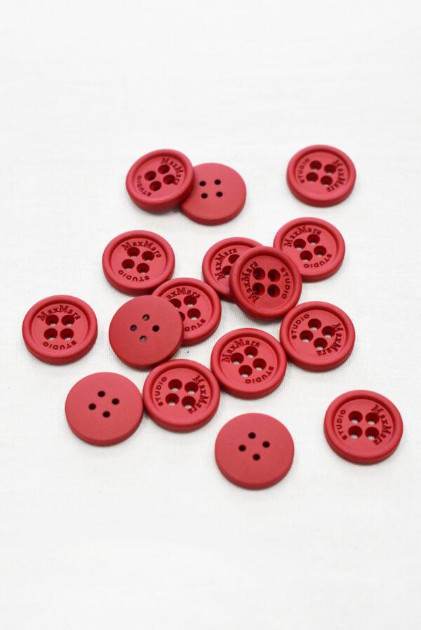 Пуговицы пластиковые красные на четыре прокола (р1158) - Фото 7