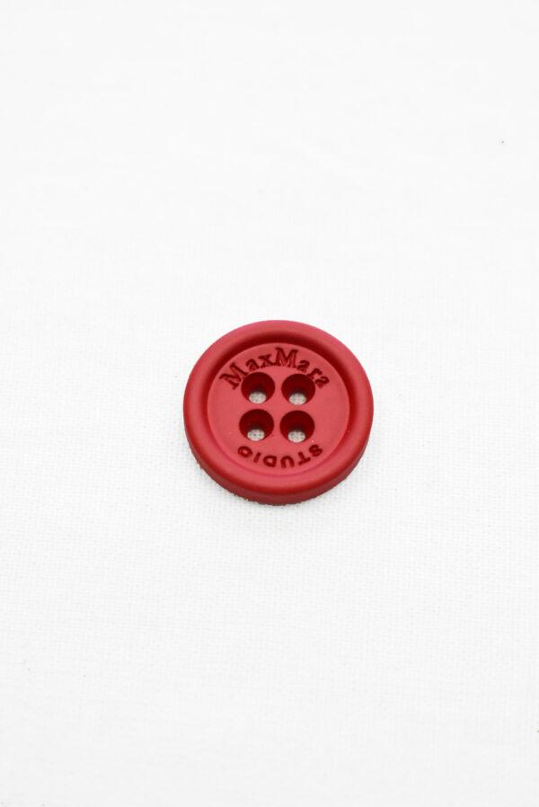 Пуговицы пластиковые красные на четыре прокола (р1158) - Фото 6