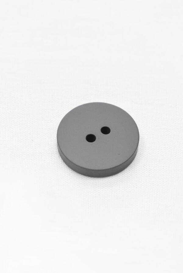Пуговица пластик темно-серая  пальтовая на прокол 25 мм (р1159) к23 - Фото 8