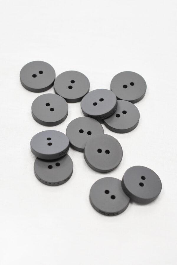 Пуговица пластик темно-серая  пальтовая на прокол 25 мм (р1159) к23 - Фото 7