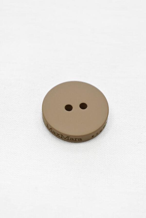 Пуговица пластик кремовая с надписью (р1160) к23 - Фото 6