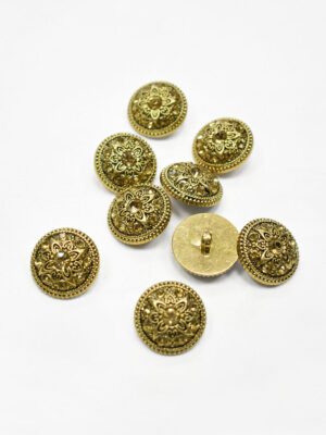 Пуговица пластик золото с желтыми стразами (p1163) - Фото 11