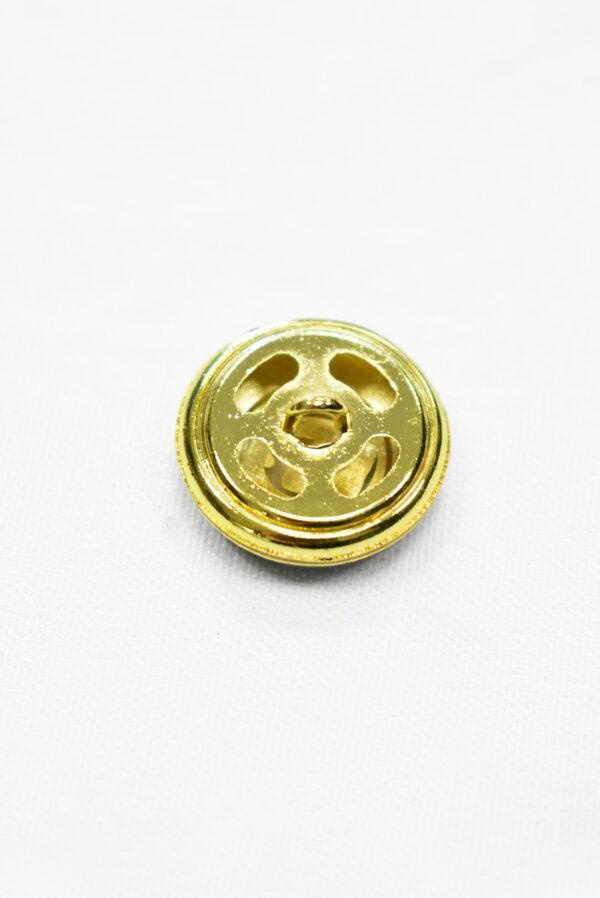 Пуговица металл с зеленой эмалью и золотым символ бесконечности (p1169) к19 - Фото 9