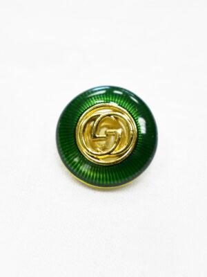 Пуговица металл с зеленой эмалью и золотым символ бесконечности (p1169) - Фото 17