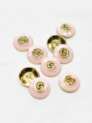 Пуговица металл с розовой эмалью и буквами (p1170) - Фото 19