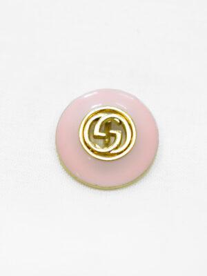 Пуговица металл с розовой эмалью и буквами (p1170) - Фото 18