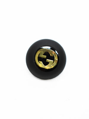 Пуговица маленькая черная с золотым символ бесконечности (p1174) - Фото 22