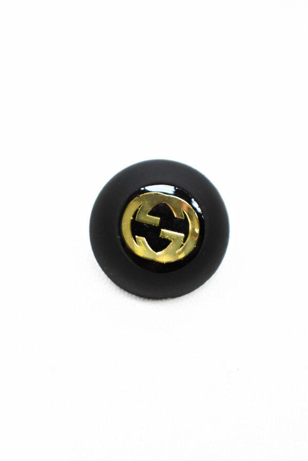 Пуговица маленькая черная с золотым символ бесконечности (p1174) - Фото 6