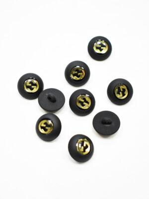 Пуговица маленькая черная с золотым символ бесконечности (p1174) - Фото 23