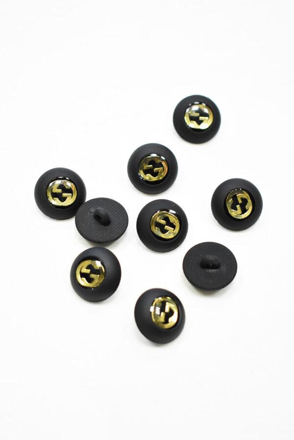 Пуговица маленькая черная с золотым символ бесконечности (p1174) - Фото 7