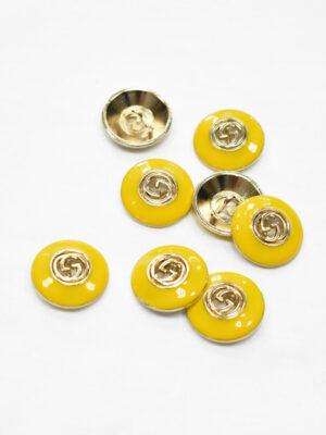 Пуговица металл с желтой эмалью и буквами (p1177) - Фото 24