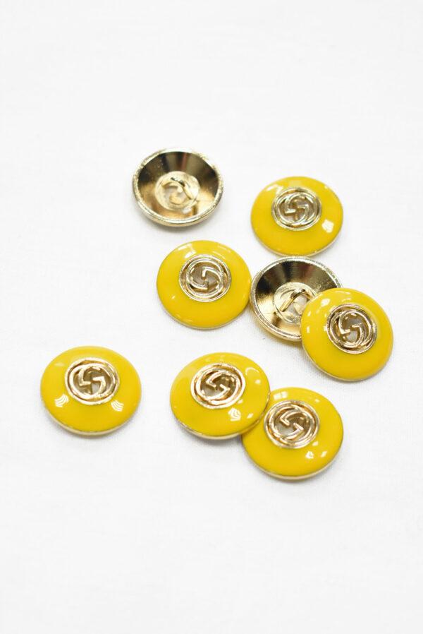 Пуговица металл с желтой эмалью и буквами (p1177) к19 - Фото 7
