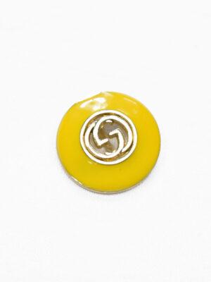 Пуговица металл с желтой эмалью и буквами (p1177) - Фото 23