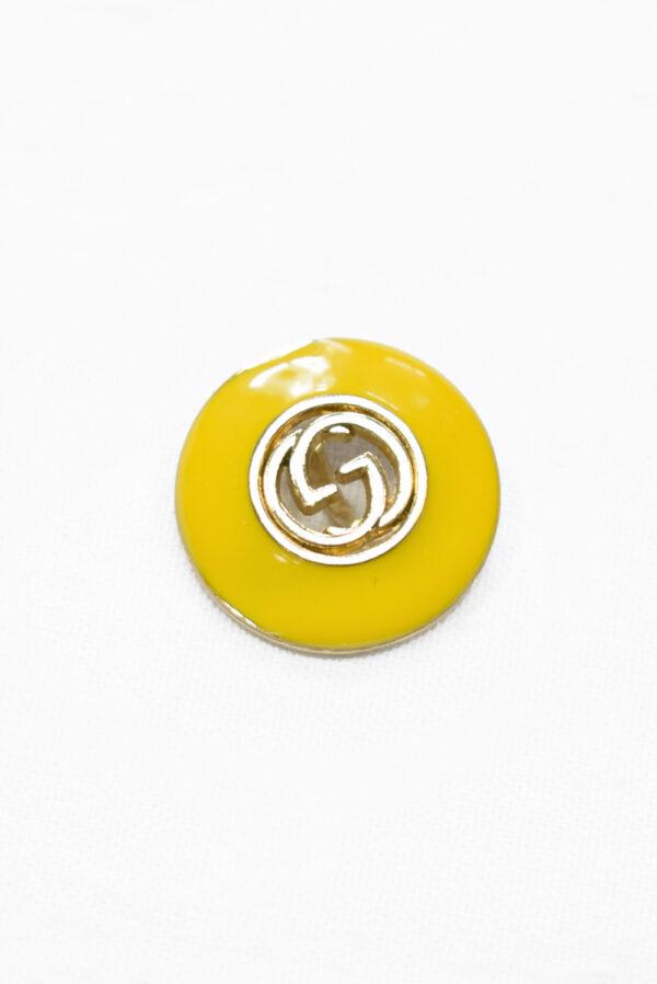 Пуговица металл с желтой эмалью и буквами (p1177) к19 - Фото 6