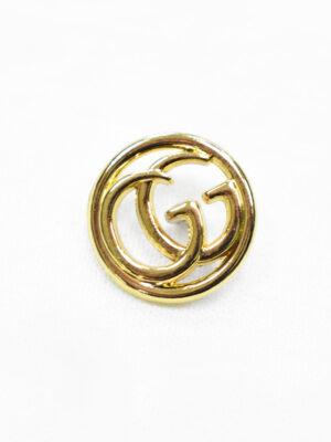 Пуговица металл золото ажурные буквы (p1178) - Фото 21