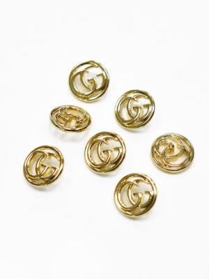 Пуговица металл золото ажурные буквы (p1178) - Фото 22